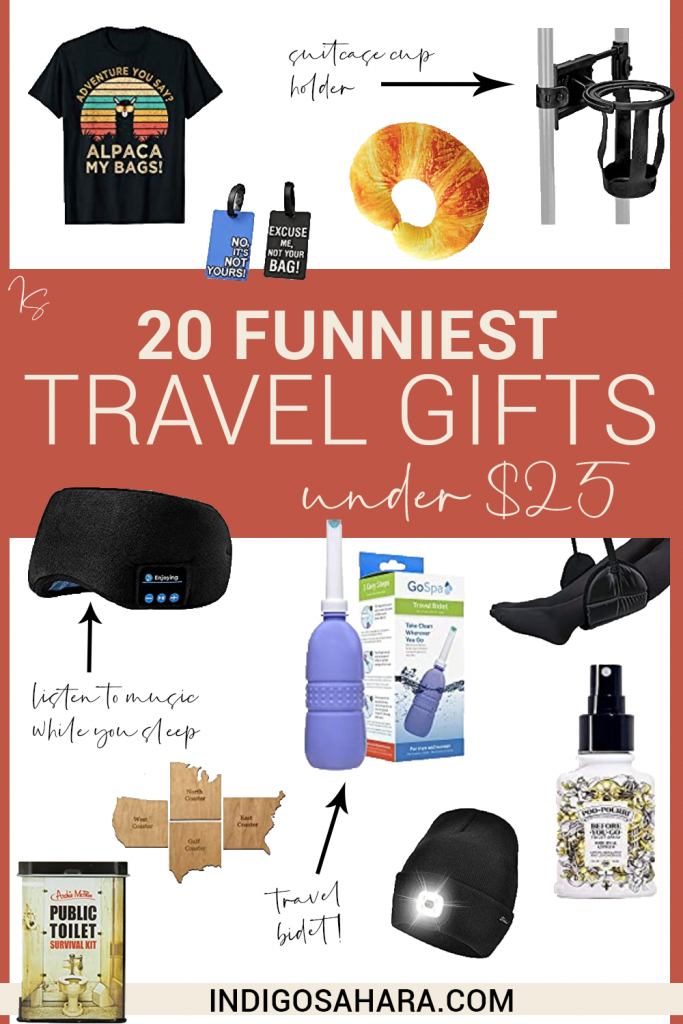 20+ Funniest Travel Gifts Under $25 | Indigo Sahara | Travel & Lifestyle Blog