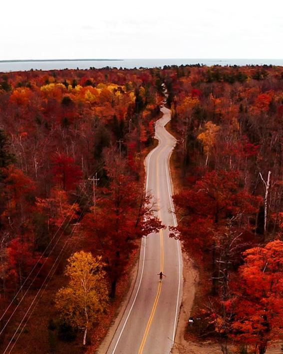 Door County, Wisconsin, curvy road   Indigo Sahara