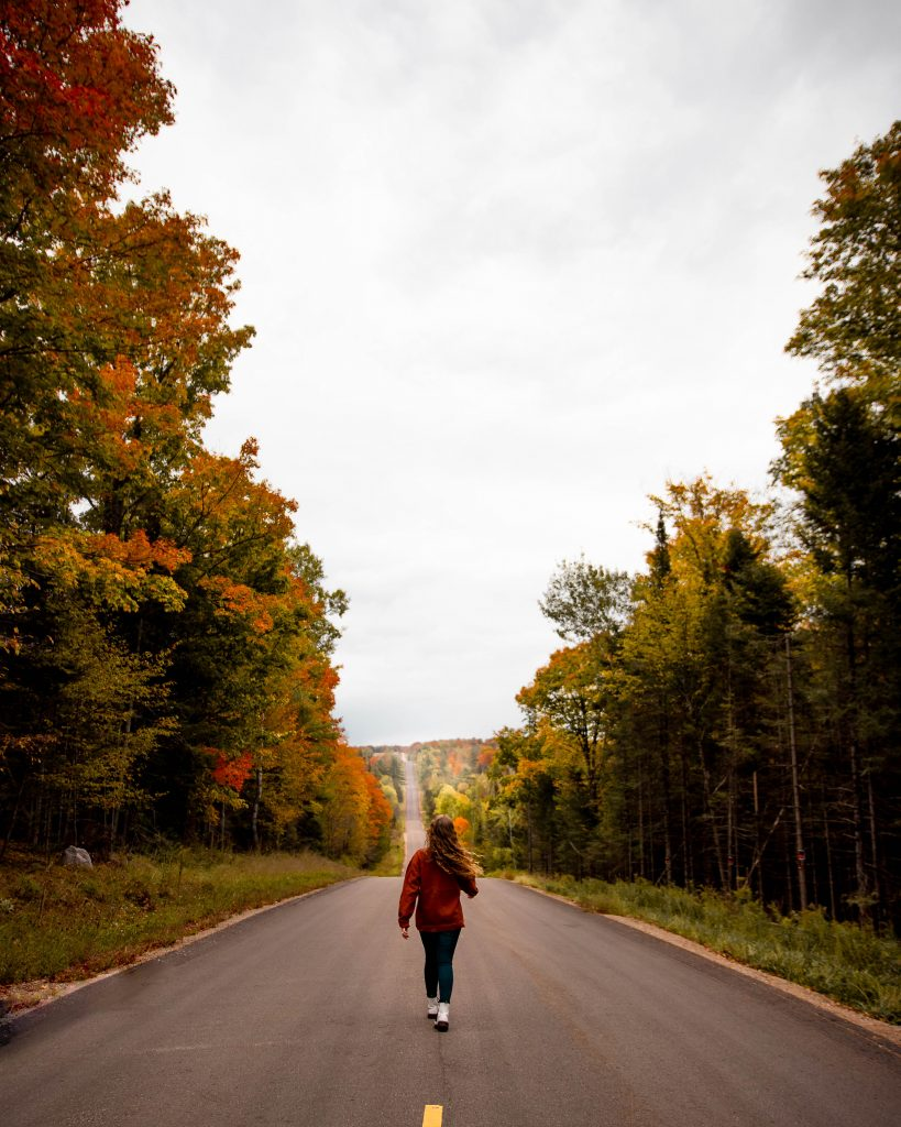 Fall road in northern Wisconsin   Indigo Sahara   Travel & Lifestyle