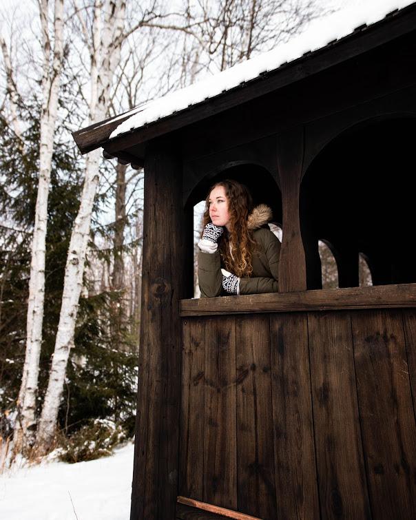 Washington Island Stavkirke in winter