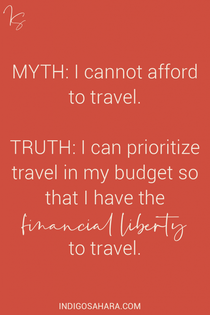 Saving money for travel (quote)