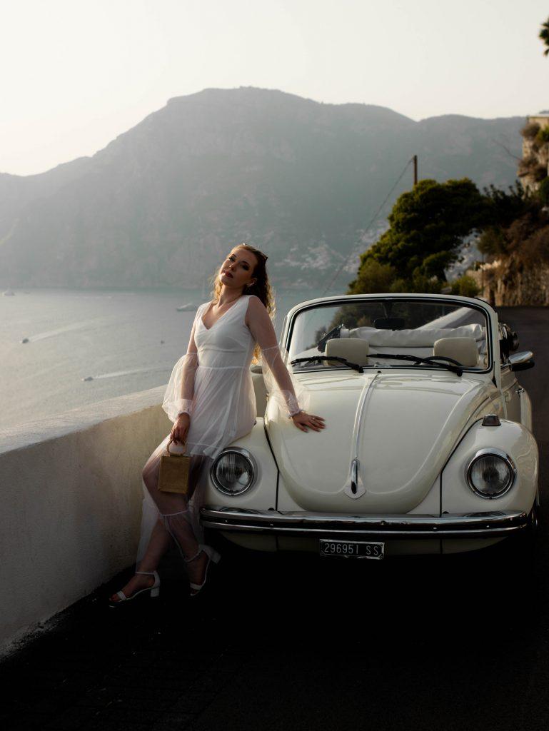 Vintage car on the Amalfi Coast, Italy   Positano Itinerary 5 days