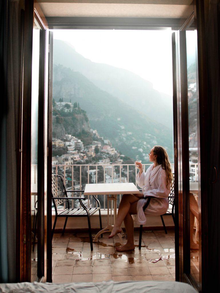 Hotel Casa Albertina in Positano, Italy (ocean view balcony room)
